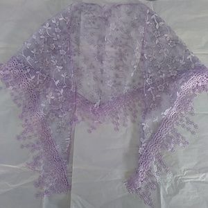 Lilac Lace Scarf